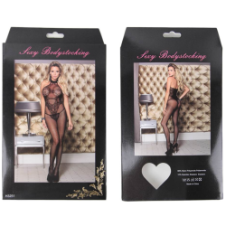 leg avenue medias con costura trasera y liga encaje nude