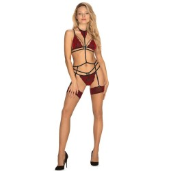 queen lingerie tanga negro con abertura y perlas tu