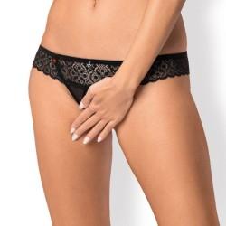 queen lingerie tanga negro talla unica