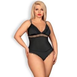 queen lingerie teddy negro talla unica